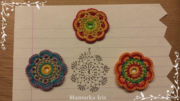 crochetクロッシェ編み図