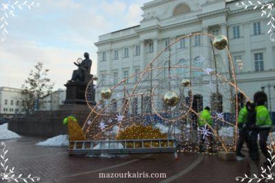 ポーランド旅行ワルシャワ観光新世界通りクリスマスイルミネーション