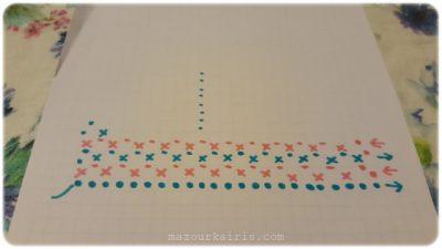 メンズマフラー編み図crochetpatternfree
