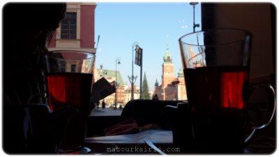 ワルシャワ旧市街カフェ