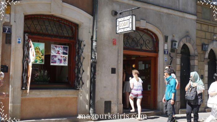 ワルシャワ旧市街建物アイス屋さん
