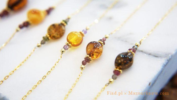 琥珀warsawjewelryポーランドお土産ブレスレット